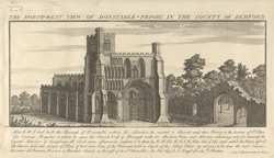 N.W. View of Dustable Priory, 1730